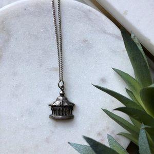 VTG • Sterling Silver Pagoda Necklace